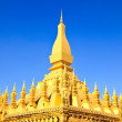 Golden pagada in Wat Pha That Luang, Vientiane, Laos. — Stock Photo