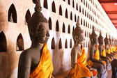 Buddha Image at Wat Si Saket in Vientiane, Laos. — Stock Photo