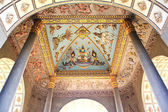 Ceiling Mural of Patuxai arch monument in Vientiane, Laos — Stock Photo