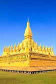 Golden pagada in Wat Pha That Luang, Vientiane, Laos. — Stock Photo