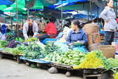 VANG VIENG, LAOS - FEB 1 : Unidentified woman in the market of V — Stock Photo