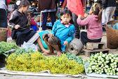 VANG VIENG, LAOS - FEB 1 : Unidentified kid in the market of Van — Stock Photo