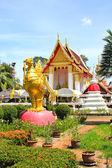 Templet wat phai lom på koh kret, nonthaburi, thailand. — Stockfoto