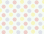 Seamless flower pattern vector background — Stock Vector