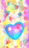 Corazón abstracto hermoso día de san valentín, vector — Vector de stock