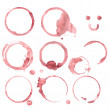 Wine stain circles in red tones with realistic gradient shading — Stock Photo #45176667