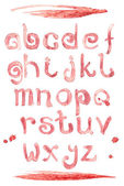 Red wine splash special font, abc a-z small letters — Stok fotoğraf
