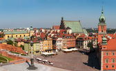 Plaza del castillo en varsovia. — Foto de Stock