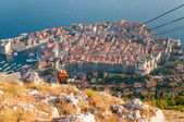 View of Dubrovnik from Srd mountain — Stock Photo