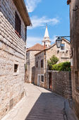 Street in town of Jelsa — Stock Photo
