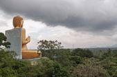 Heavy clouds over Dambulla Temple — Stock Photo