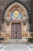 Boczne wejście vysehrad katedry — Zdjęcie stockowe