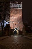 Opatowska gate genom natten — Stockfoto