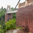 Bench at Clifton Suspension Bridge in Bristol — Foto Stock