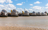 Thames barrier in londen — Stockfoto