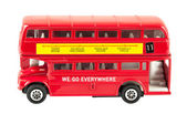 Toy model of red double decker bus — Foto Stock