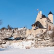 Stock Photo: The Bobolice Castle in winter