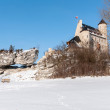 The Bobolice Castle in winter — Stock Photo
