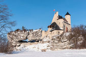 The Bobolice Castle in winter — Stock Photo
