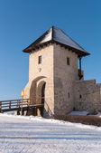 Entrance tower of Bobolice Castle — Foto de Stock