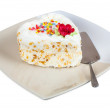 Cake in the shape of heart on plate — Stock Photo #41232527