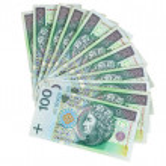 Polish banknotes of 100 PLN — Stock Photo #41402161