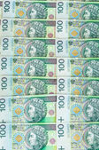 Banknotes of 100 PLN (polish zloty) — Stock Photo