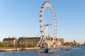 London Eye in afternoon sun — Stock Photo