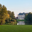 Park and castle in Pszczyna — Stock Photo #46180097
