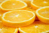 橙片的背景 — 图库照片