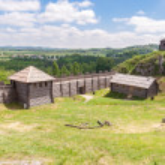 gammal bosättning på birow berg — Stockfoto #47504077