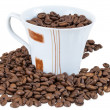 Coffee beans in a cup — Stock Photo #48647739