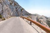 Winding road in Biokovo mountains. — Stock Photo