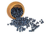 Berries fall out of the bowl — Stock Photo
