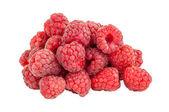 Fresh raspberries on white background — Stock Photo