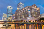 North Dock in Londons docklands at night — Stock Photo