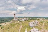 Castle ruins in Olsztyn — Stock Photo