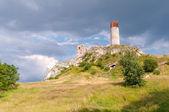 Castle ruins in Olsztyn — Stockfoto
