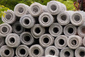 Metal rolls for fences — Stock Photo