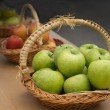 Stock Photo: Apple baskets