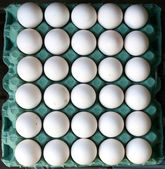 White eggs for sale — Stock Photo
