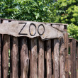 Stock Photo: Zoo sign