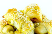 Baked rolls with sesame — Stock Photo