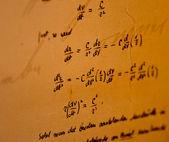 Handwritten mathematical calculations — Stock fotografie