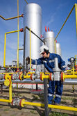 Worker at oil and gas industry — Stock Photo