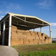 Stock Photo: Bales storage