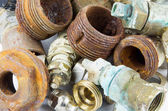 Rusty valves and threads — Stock Photo
