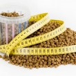 Stock Photo: Measured dose of food for dog