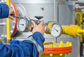Worker in oil industry — Stock Photo