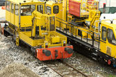 Máquinas ferroviárias — Fotografia Stock